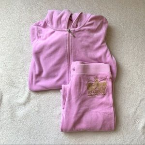 JUICY COUTURE VELOUR TRACKSUIT (LIGHT PINK)